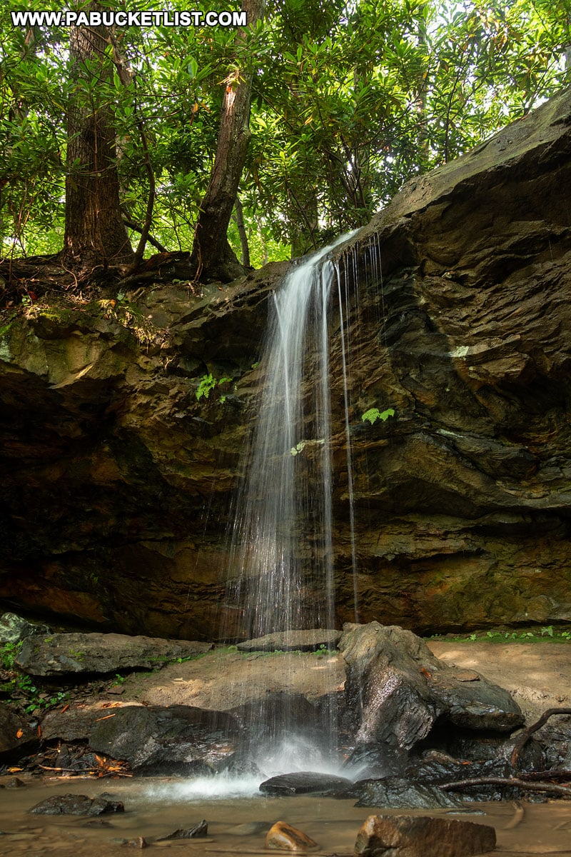Hippie Shower Falls along the Great Allegheny Passage.