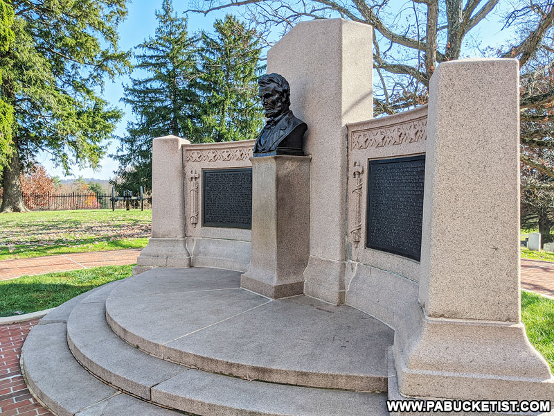 Lincoln Address Memorial at the Gettysburg National Cemetery.