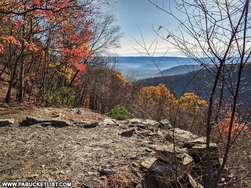 The Mount Union Overlook near the 1000 Steps in Huntingdon County PA