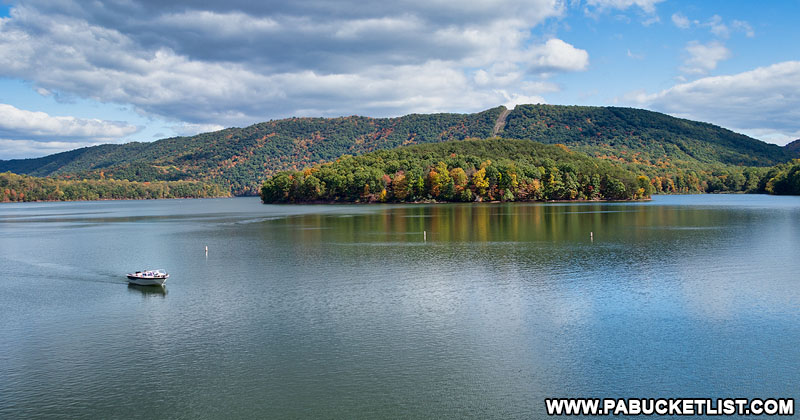 Lake Raystown in Huntingdon County Pennsylvania.
