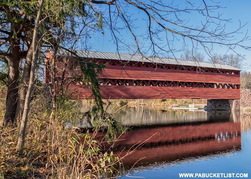 Sachs Covered Bridge over Marsh Creek near Gettysburg PA