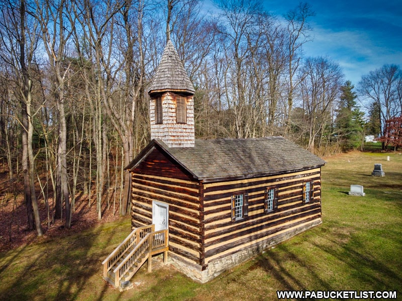 Saint Severin Old Log Church in Clearfield County, Pennsylvania.