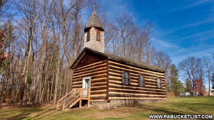 Saint Severin Old Log Church in Clearfield County