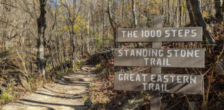 The 1000 Steps Trailhead in Huntingdon County.