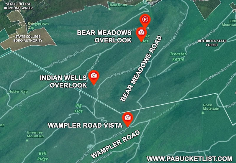 Directions to Wampler Road Vista in Huntingdon County Pennsylvania