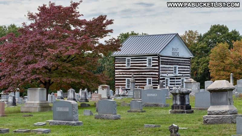 The 1806 Old Log Church on Bedofrd County, Pennsylvania.