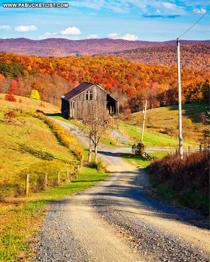 Faupel Road in Bedford County Pennsylvania.