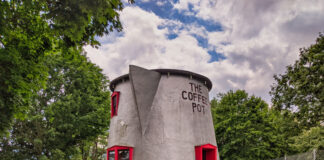The Bedford Coffee Pot along Route 30.