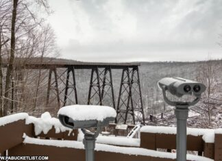 Viewing area at Kinzua Bridge State Park.