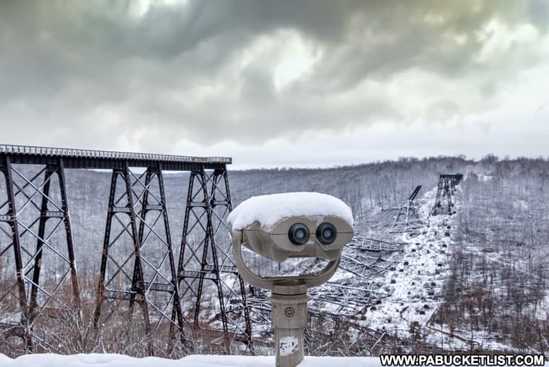 One of several observation areas at Kinzua Bridge State Park in McKean County PA