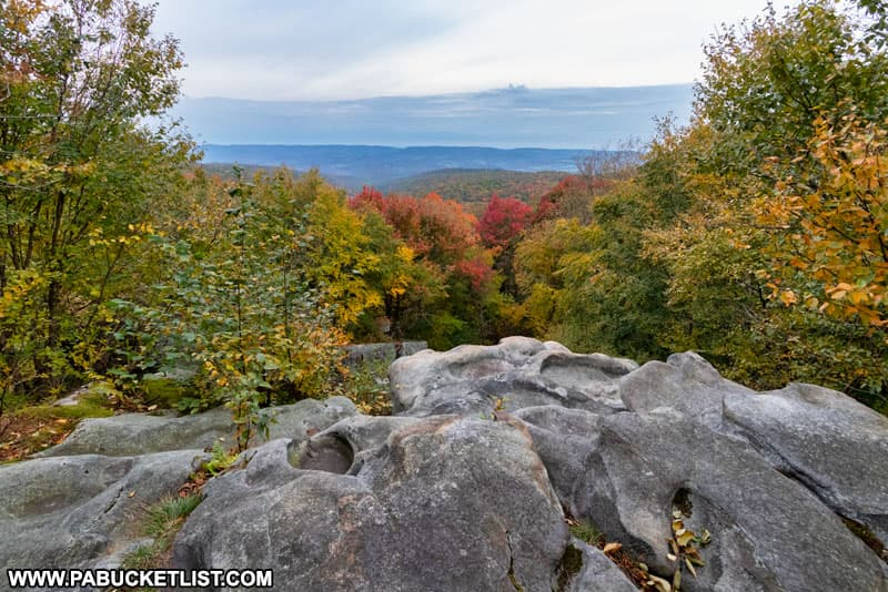 Laurel Run Overlook along the Laurel Highlands Hiking Trail in Fayette County, PA/