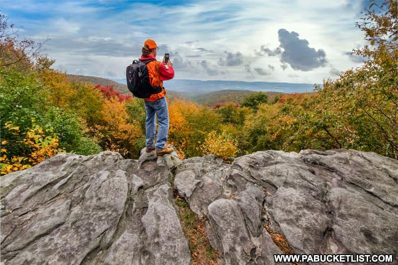 October morning at Laurel Run Overlook in Fayette County, Pennsylvania.