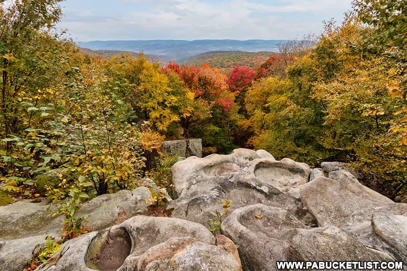Laurel Run Overlook in Fayette County, Pennsylvania.
