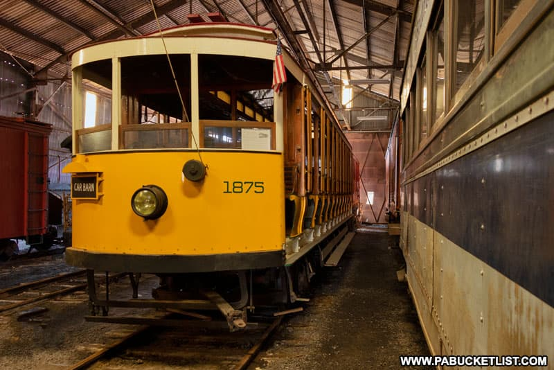 Inside the Rockhill Trolly Museum in Huntingdon County Pennsylvania.