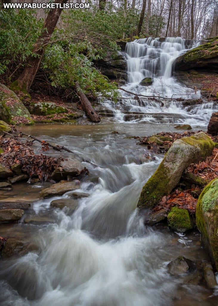Stewarton Falls near Mill Run in Fayette County Pennsylvania.