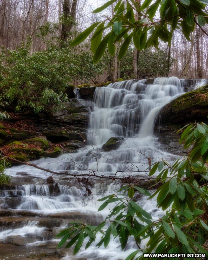 Stewarton Falls near Fallingwater in Fayette County, Pennsylvania.