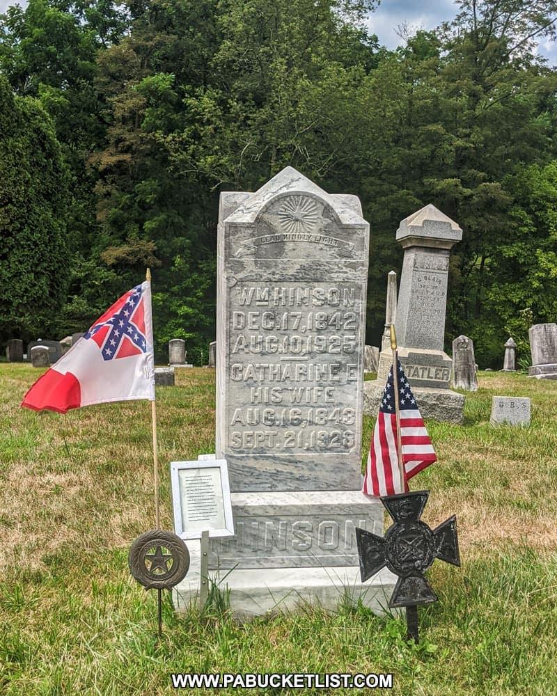 Gravesite of Confederate veteran William Hinson, born Oliver Niley.