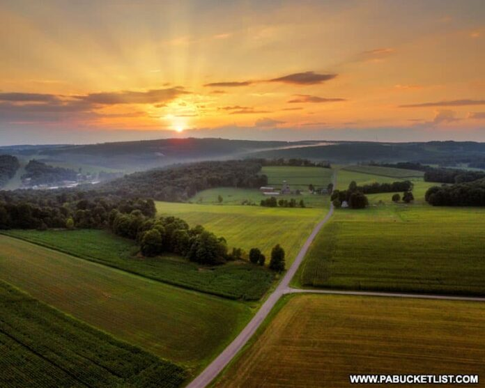 Aerial view of Wills Church Road in Somerset County PA