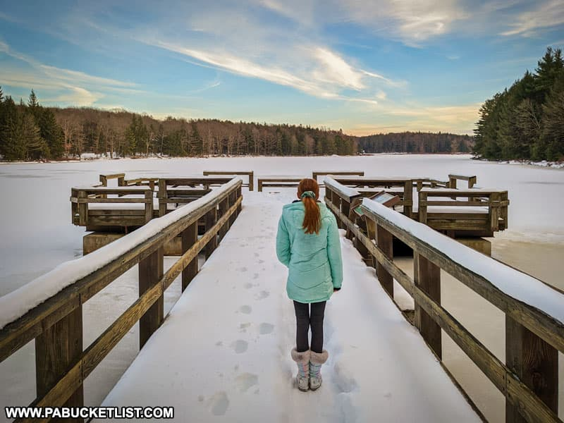 The fishing pier at Black Moshannon State Park.