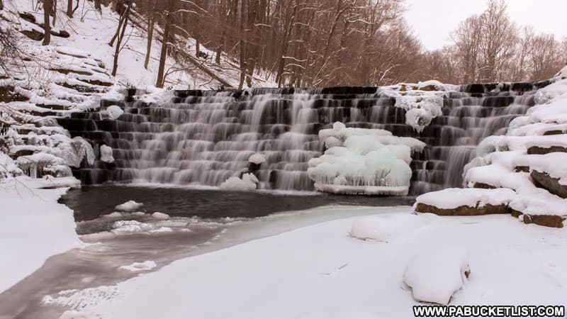 Jones Mill Run Dam at Laurel Hill State Park.
