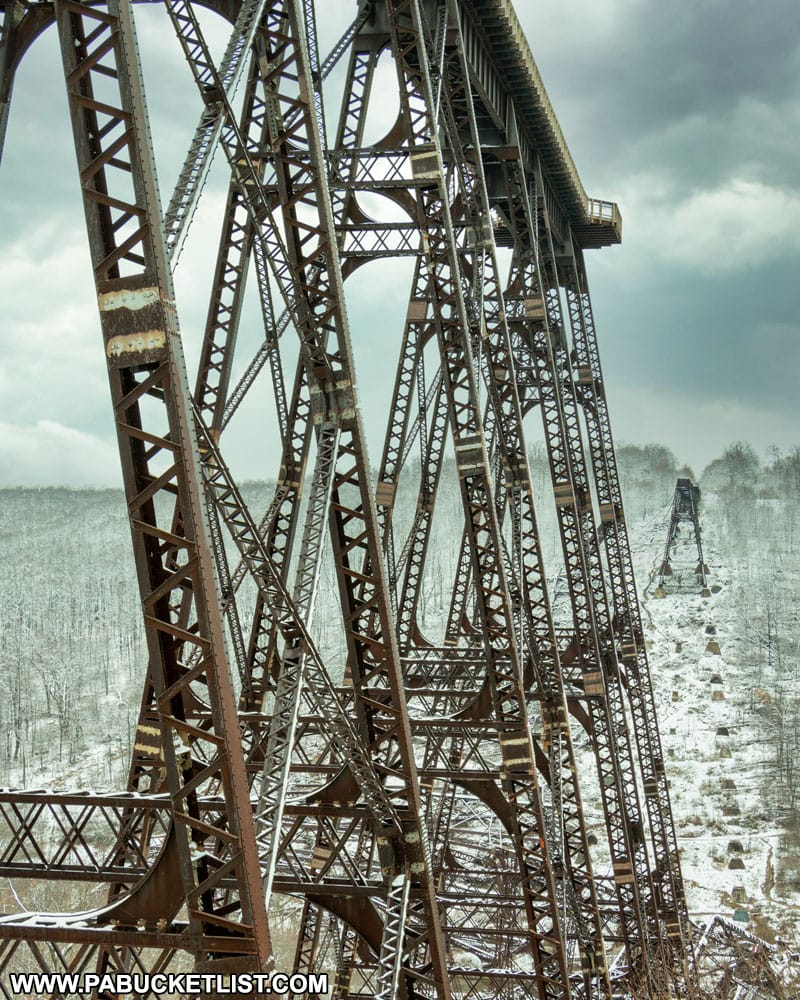 The remains of the Kinzua Viaduct at Kinzua Bridge State Park in McKean County