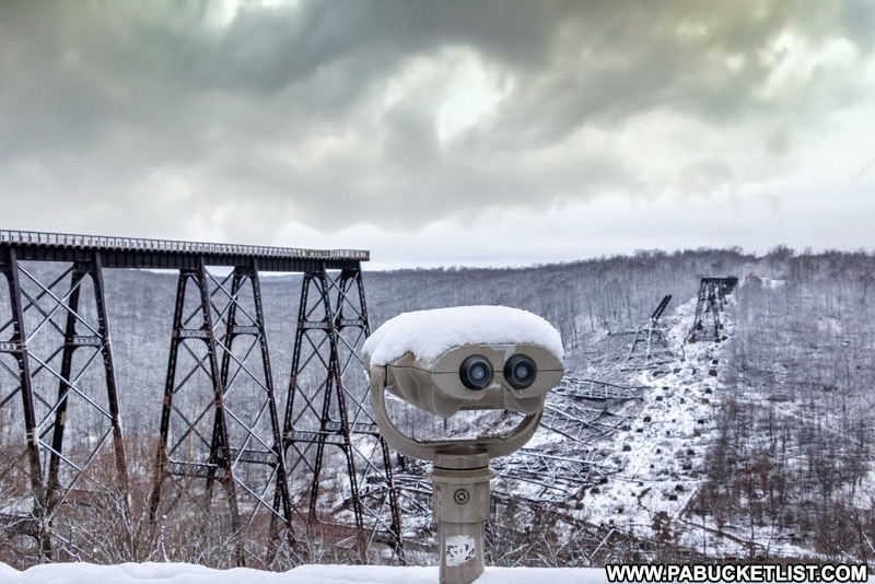 One of several observation areas at Kinzua Bridge State Park in McKean County, PA.