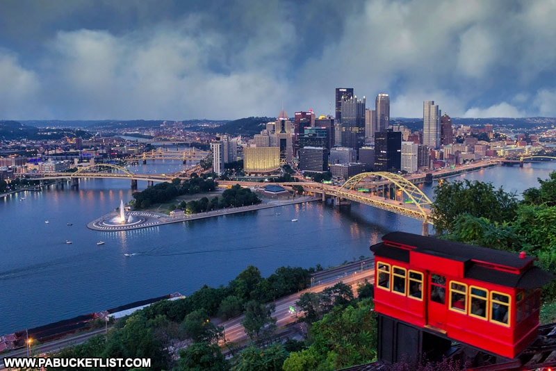 The view from Mount Washington in Pittsburgh Pennsylvania