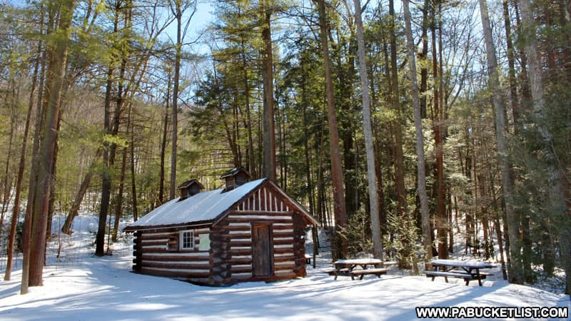 Winter at Whipple Dam State Park in Huntingdon County.