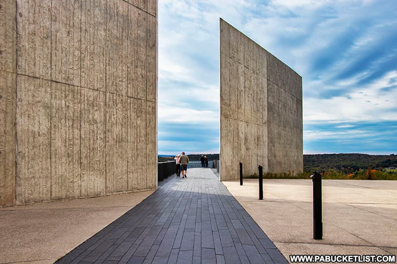 The Flightpath walkway at the Flight 93 National Memorial.