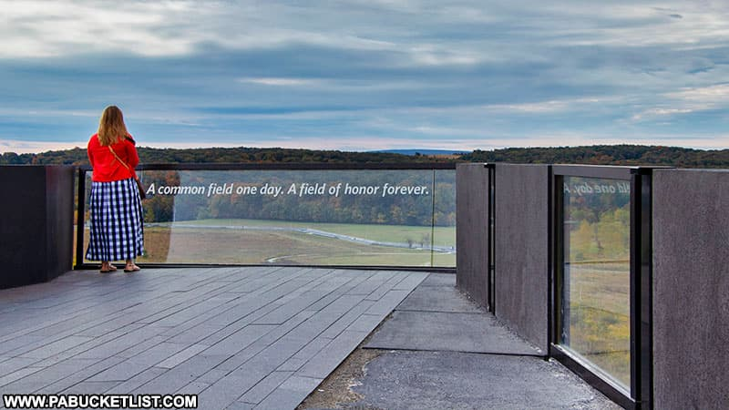 The Overlook at the Flight 93 National Memorial.