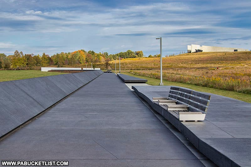 The Plaza Walkway at the Flight 93 National Memorial.