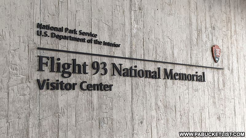 The Flight 93 National Memorial Visitor Center in Somerset County PA