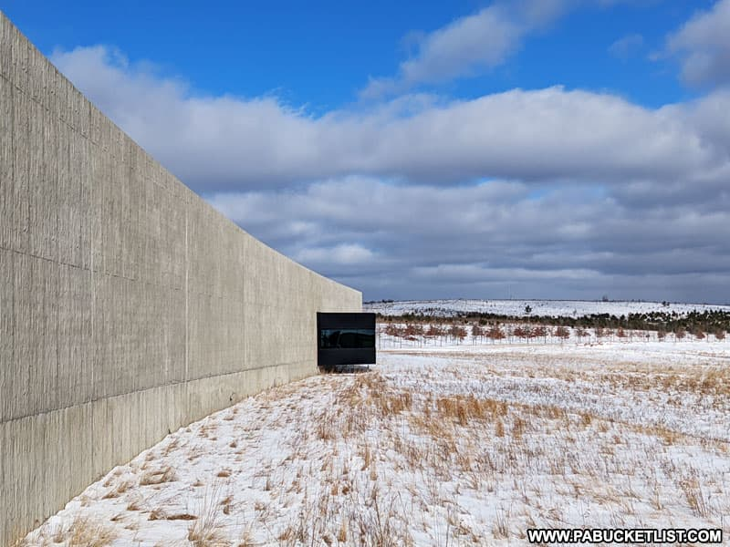Winter at the Flight 93 National Memorial Visitor Center.