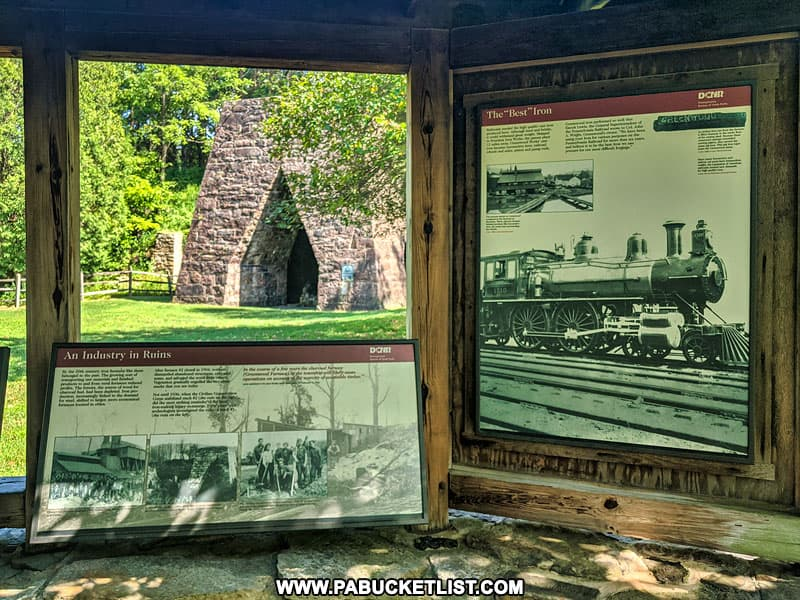 History of the former iron industry at Greenwood Furnace State Park.