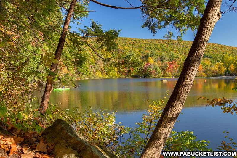 Autumn along the Lakeview Trail at Greenwood Furnace State Park.