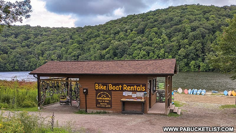 Bike and boat rental at Laurel Hill State Park.