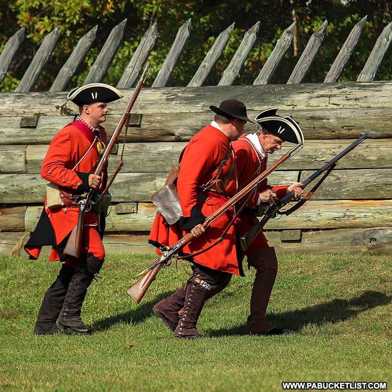 British Army reenactors at Fort Ligonier Days.