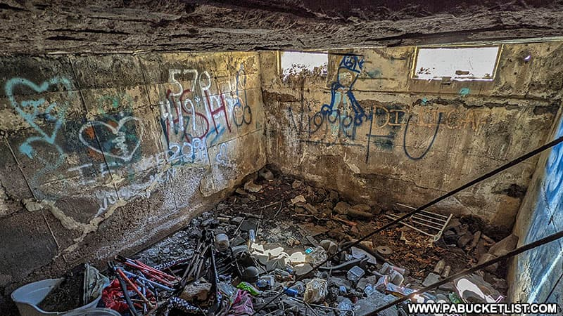 The basement of a home in Concrete City.