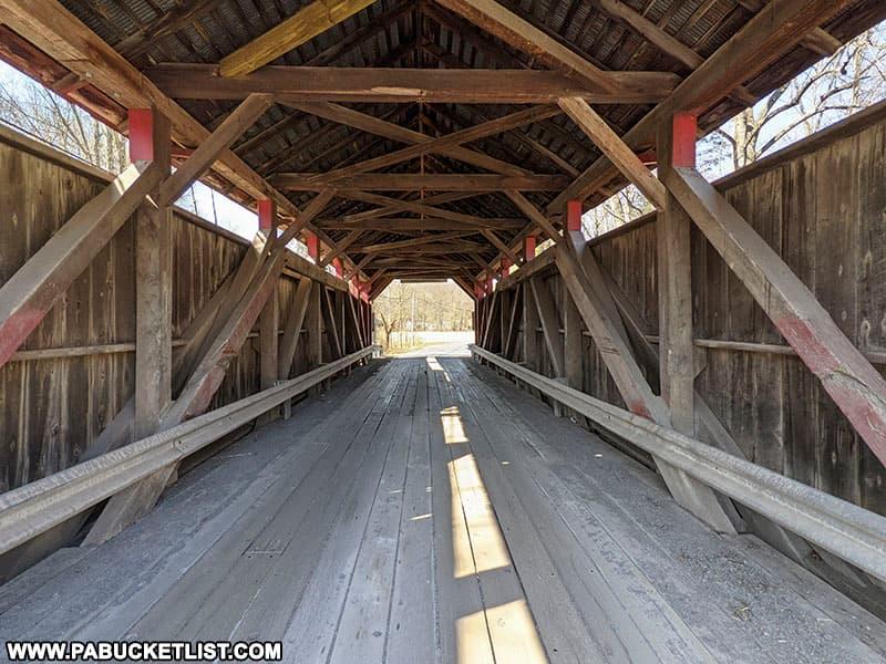Interior of Factory Covered Bridge.