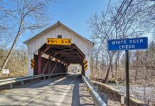 Factory Covered Bridge over White Deer Creek.