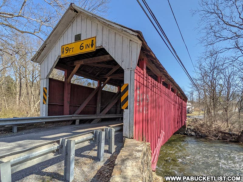 Factory Covered Bridge over White Deer Creek in Union County PA.