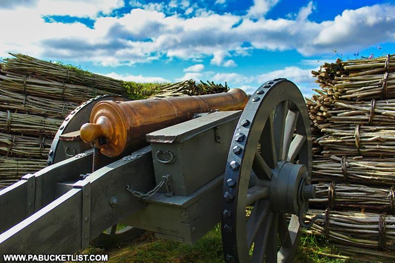 A cannon guarding Fort Ligonier.
