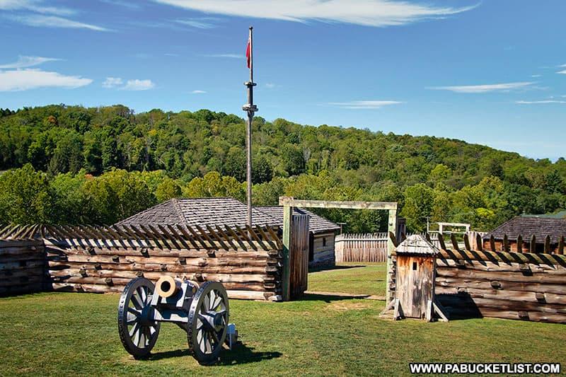 Fort Ligonier on a late summer morning.