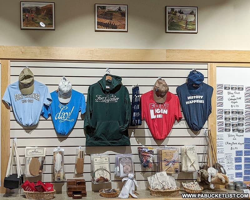 The gift shop at Fort Ligonier.