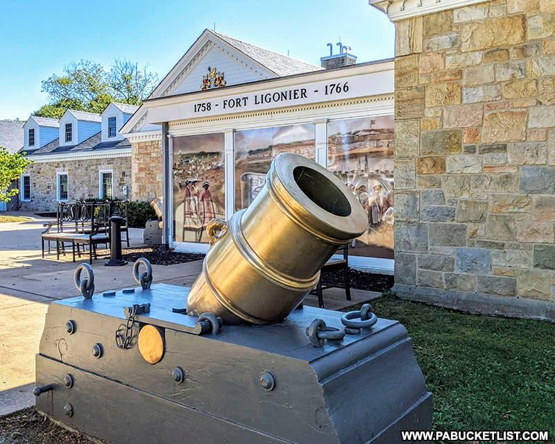 Mortar outside the Fort Ligonier museum.