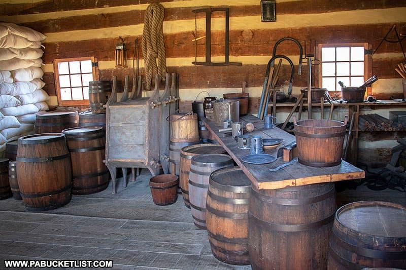 Storehouse at Fort Ligonier.
