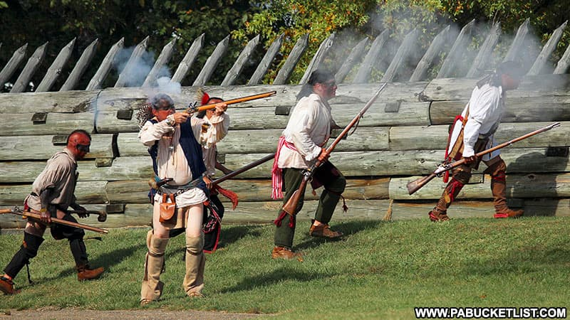 French and Indian reenactors at Fort Ligonier Days.