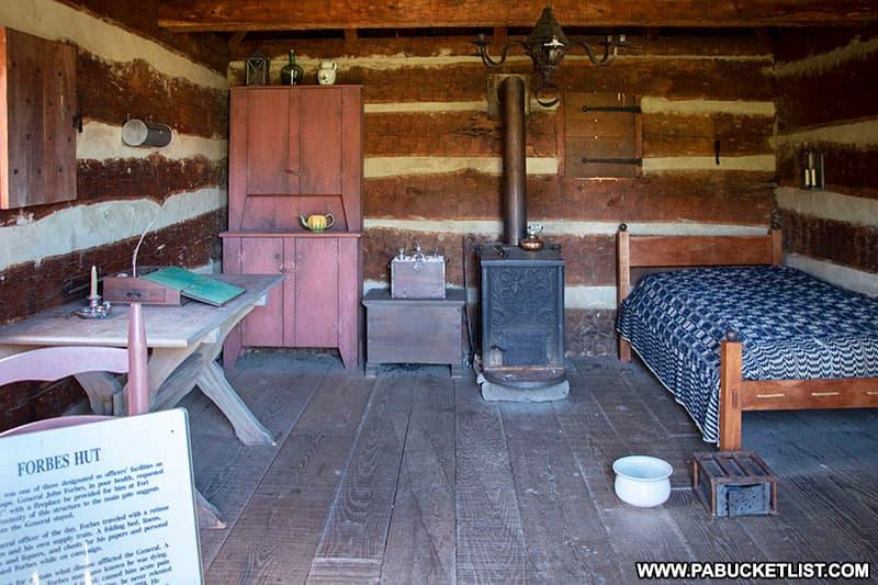 General Forbes quarters at Fort Ligonier.