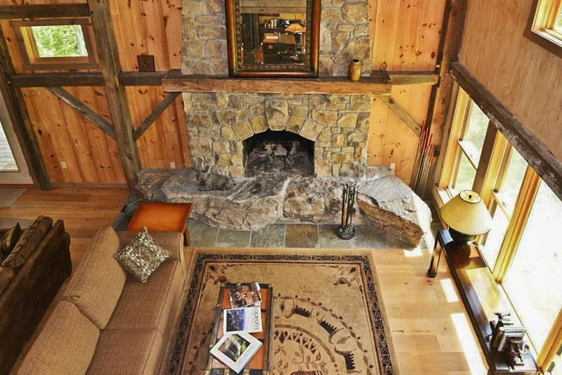 Family room of Grand Mountain Lodge vacation rental in the Pine Creek Gorge near Wellsboro PA