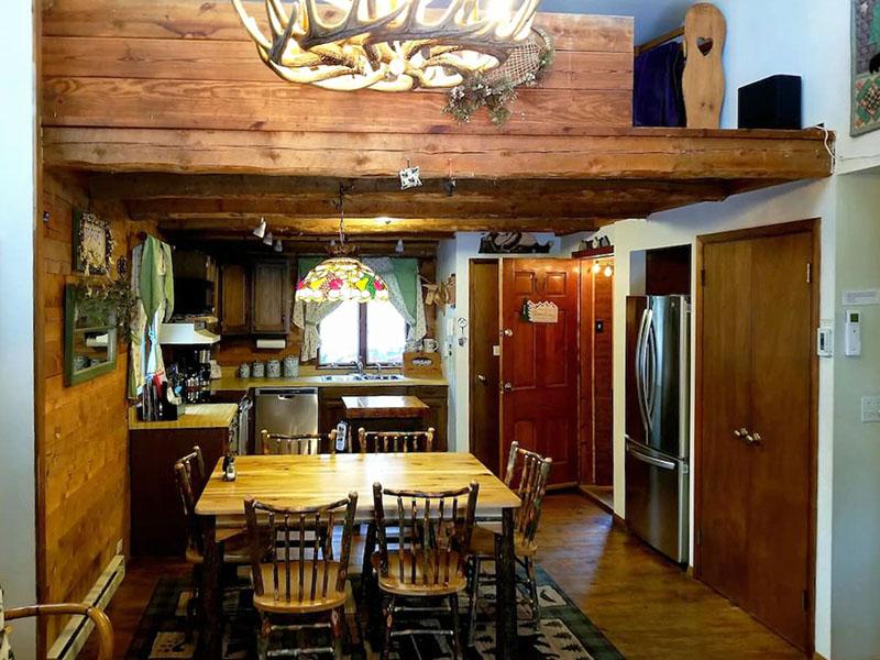 Interior of the Honey Bear Cabin in Jim Thorpe.